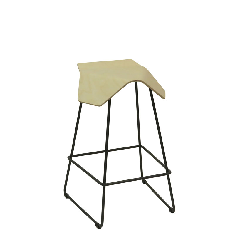 saddle, ergonomic, chair, bar stool, wood, design, finnish, furniture, school - myKolme Iloa bar birch