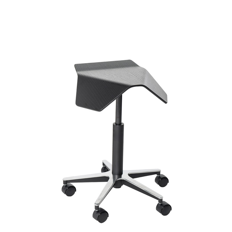 saddle, ergonomic, chair, stool, wood, design, finnish, furniture, school - myKolme Iloa black
