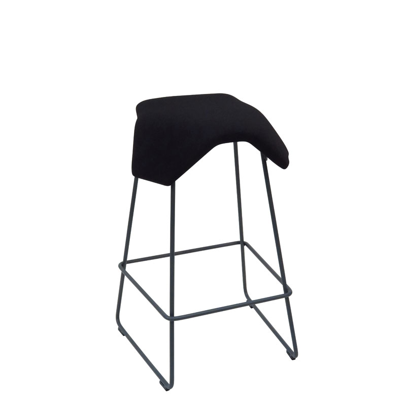 saddle, ergonomic, chair, bar stool, wood, design, finnish, furniture, school - myKolme Iloa joy bar black