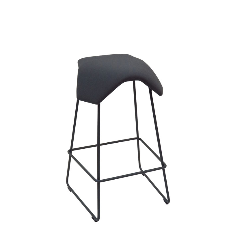saddle, ergonomic, chair, bar stool, wood, design, finnish, furniture, school - myKolme Iloa joy bar grey