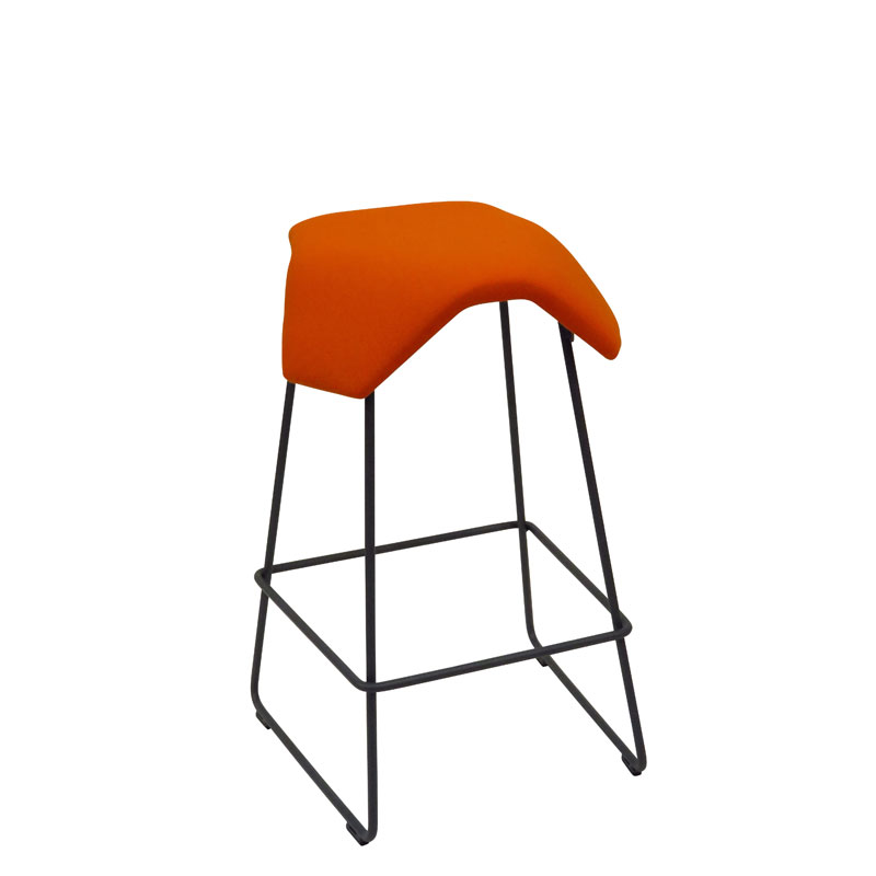 saddle, ergonomic, chair, bar stool, wood, design, finnish, furniture, school - myKolme Iloa joy bar orange