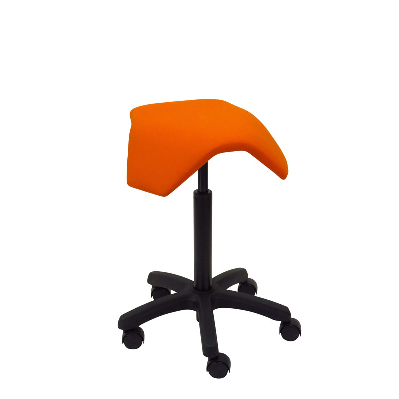 saddle, ergonomic, chair, stool, wood, design, finnish, furniture, school - myKolme Iloa joy orange