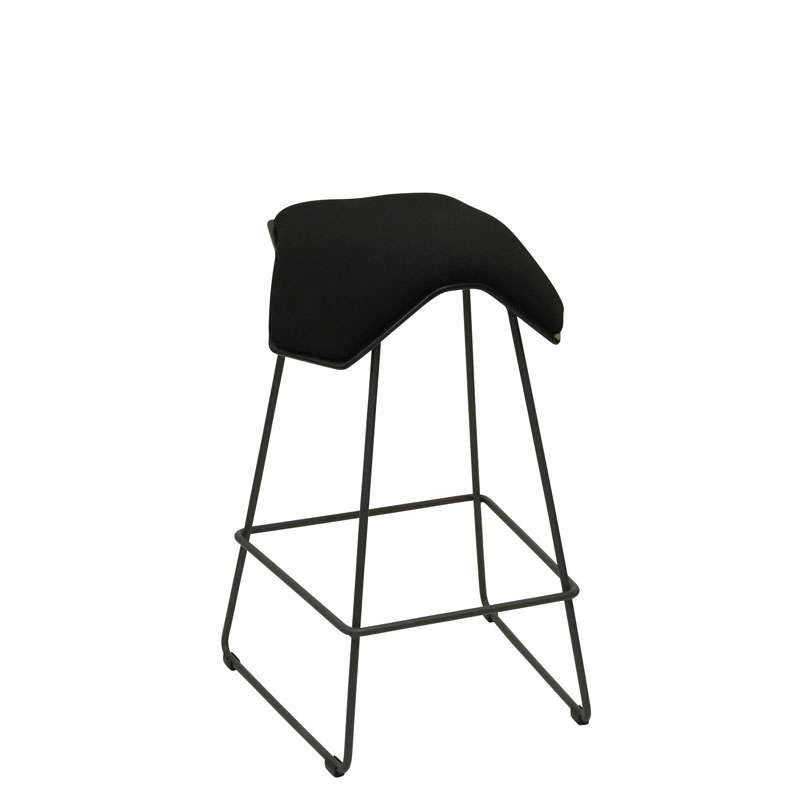 saddle, ergonomic, chair, bar stool, wood, design, finnish, furniture, school - myKolme Iloa one bar ash black fame