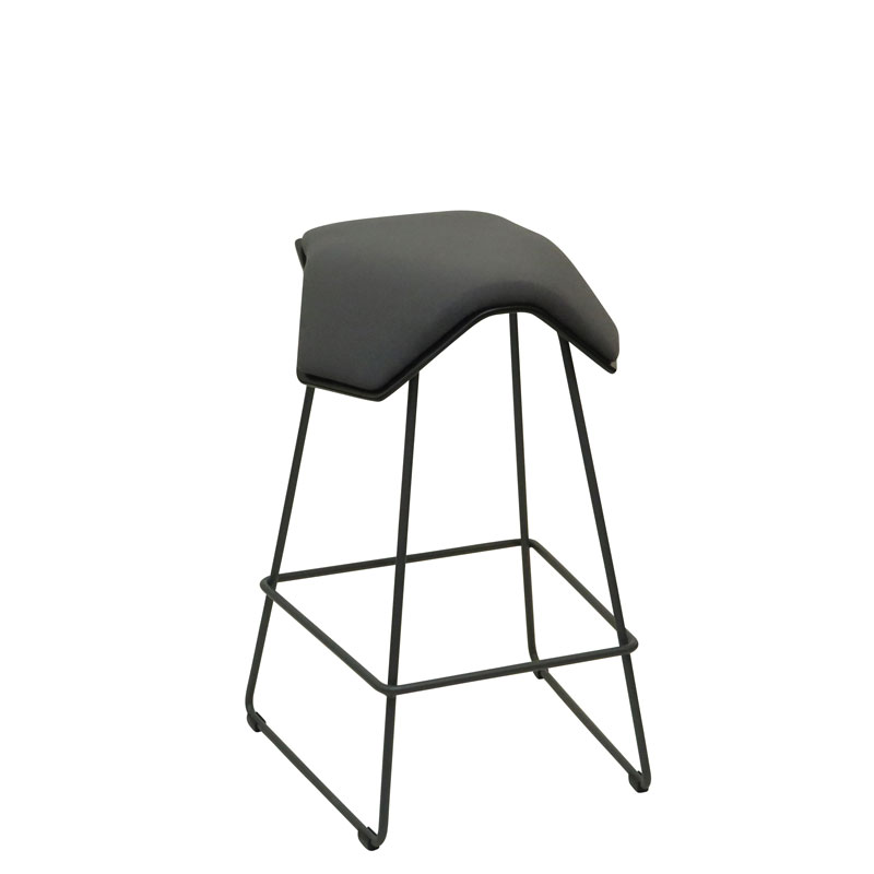 saddle, ergonomic, chair, bar stool, wood, design, finnish, furniture, school - myKolme Iloa one bar ash grey fame