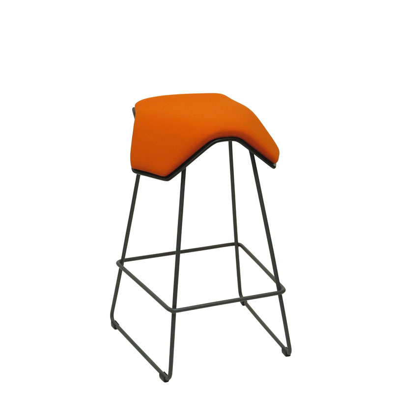 saddle, ergonomic, chair, bar stool, wood, design, finnish, furniture, school - myKolme Iloa one bar ash orange fame