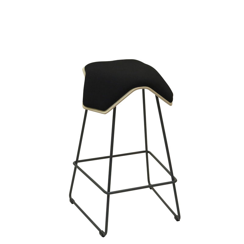 saddle, ergonomic, chair, bar stool, wood, design, finnish, furniture, school - myKolme Iloa one bar birch black fame