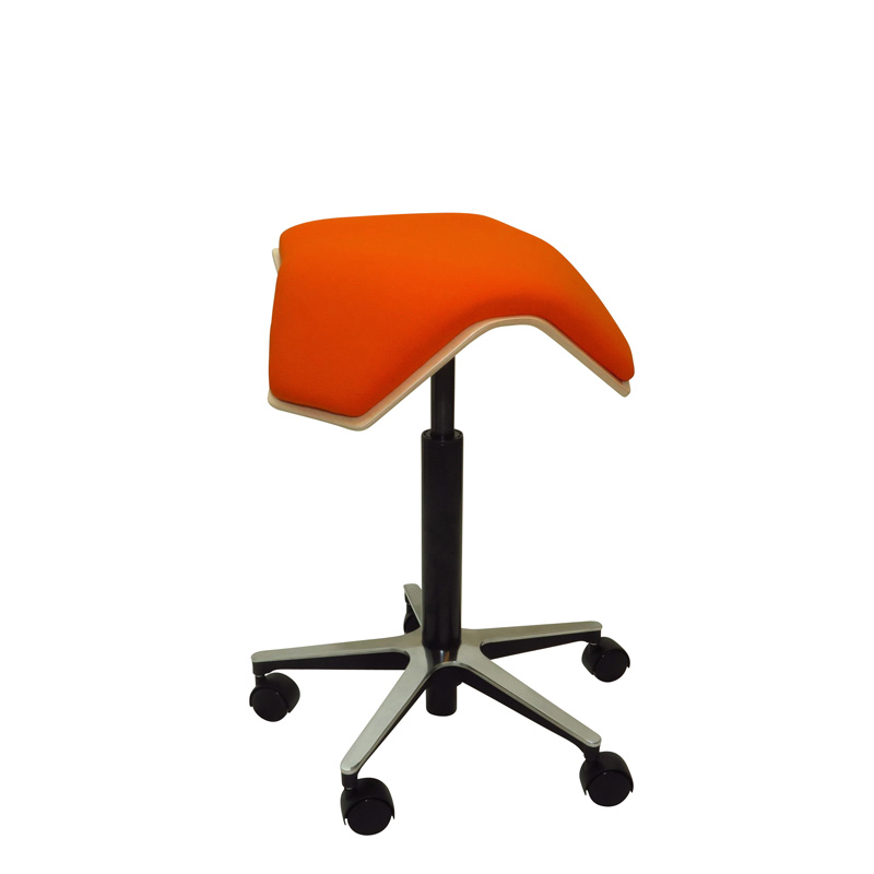 saddle, ergonomic, chair, stool, wood, design, finnish, furniture, school - myKolme Iloa one orange