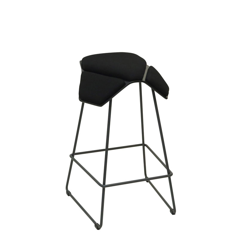 saddle, ergonomic, chair, bar stool, wood, design, finnish, furniture, school - myKolme Iloa plus bar black fame