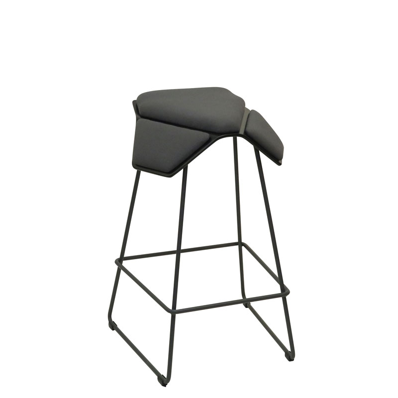 saddle, ergonomic, chair, bar stool, wood, design, finnish, furniture, school - myKolme Iloa plus bar ash grey fame