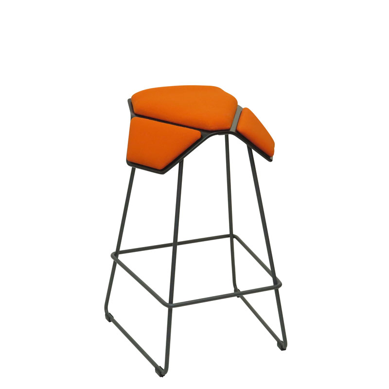 saddle, ergonomic, chair, bar stool, wood, design, finnish, furniture, school - myKolme Iloa plus bar ash orange fame