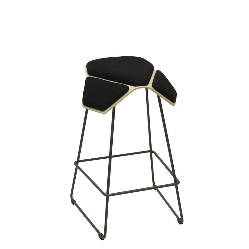 saddle, ergonomic, chair, bar stool, wood, design, finnish, furniture, school - myKolme Iloa plus bar birch black fame