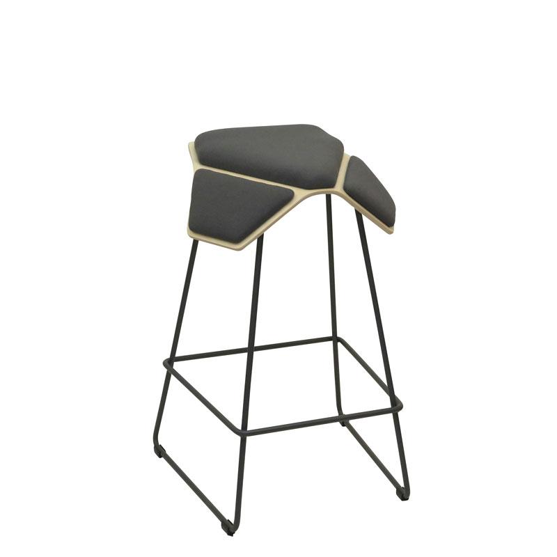 saddle, ergonomic, chair, bar stool, wood, design, finnish, furniture, school - myKolme Iloa plus bar birch grey fame