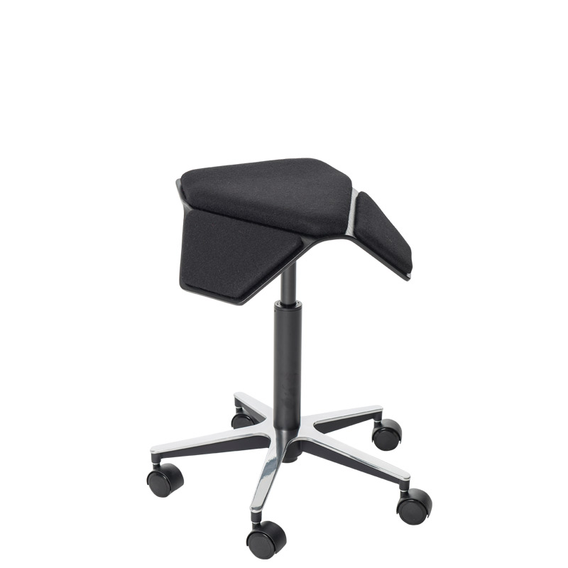 saddle, ergonomic, chair, stool, wood, design, finnish, furniture, school - myKolme Iloa plus black