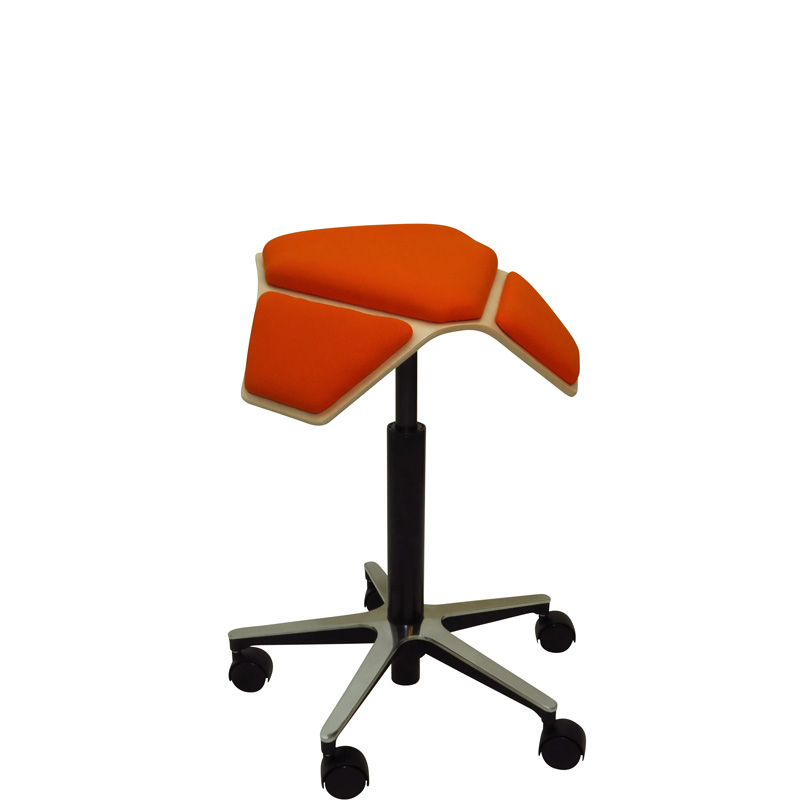 saddle, ergonomic, chair, stool, wood, design, finnish, furniture, school - myKolme Iloa plus orange