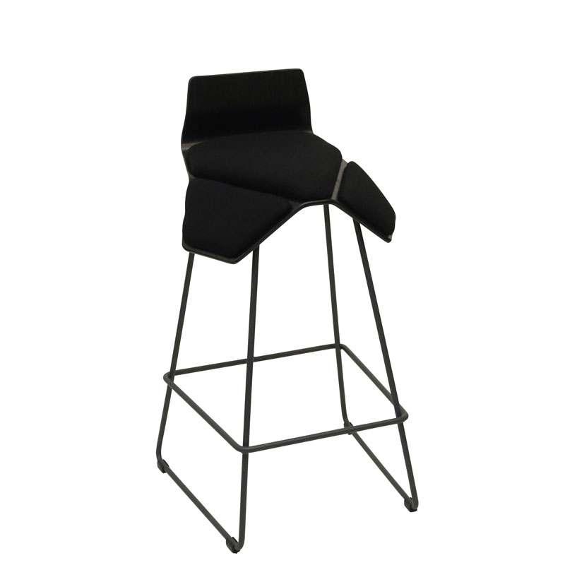 saddle, ergonomic, chair, bar stool, wood, design, finnish, furniture, school - myKolme Iloa smile bar ash black fame