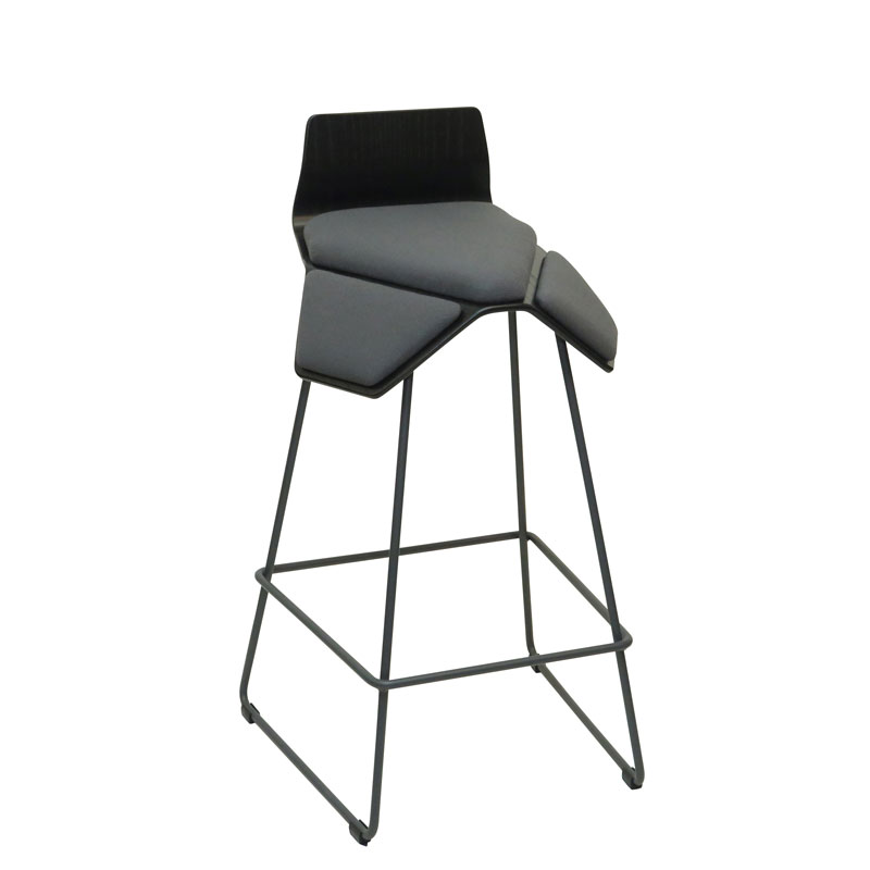 saddle, ergonomic, chair, bar stool, wood, design, finnish, furniture, school - myKolme Iloa smile bar ash grey fame
