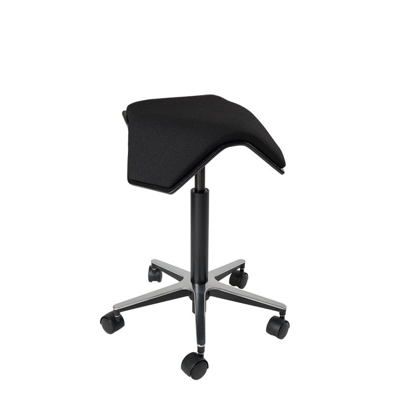 saddle, ergonomic, chair, stool, wood, design, finnish, furniture, school - myKolme Iloa one black