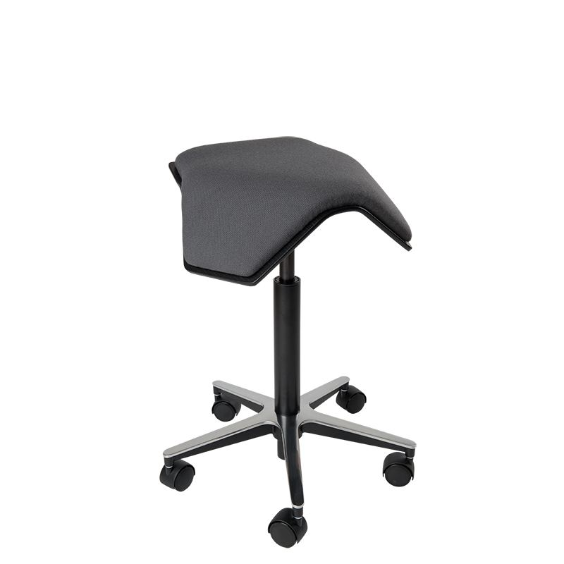 saddle, ergonomic, chair, stool, wood, design, finnish, furniture, school - myKolme Iloa one grey