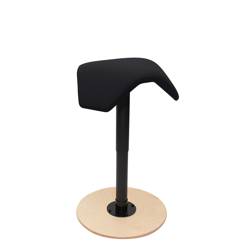 saddle, ergonomic, chair, stool, wood, design, finnish, furniture, school - myKolme liiky joy birch fame black