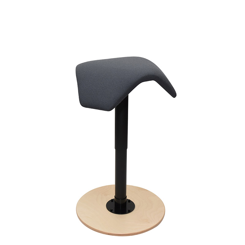 saddle, ergonomic, chair, stool, wood, design, finnish, furniture, school - myKolme liiku joy birch fame grey