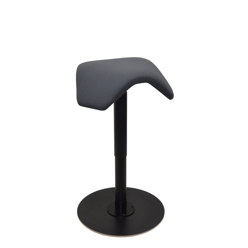 saddle, ergonomic, chair, stool, wood, design, finnish, furniture, school - myKolme liiku joy black fame grey