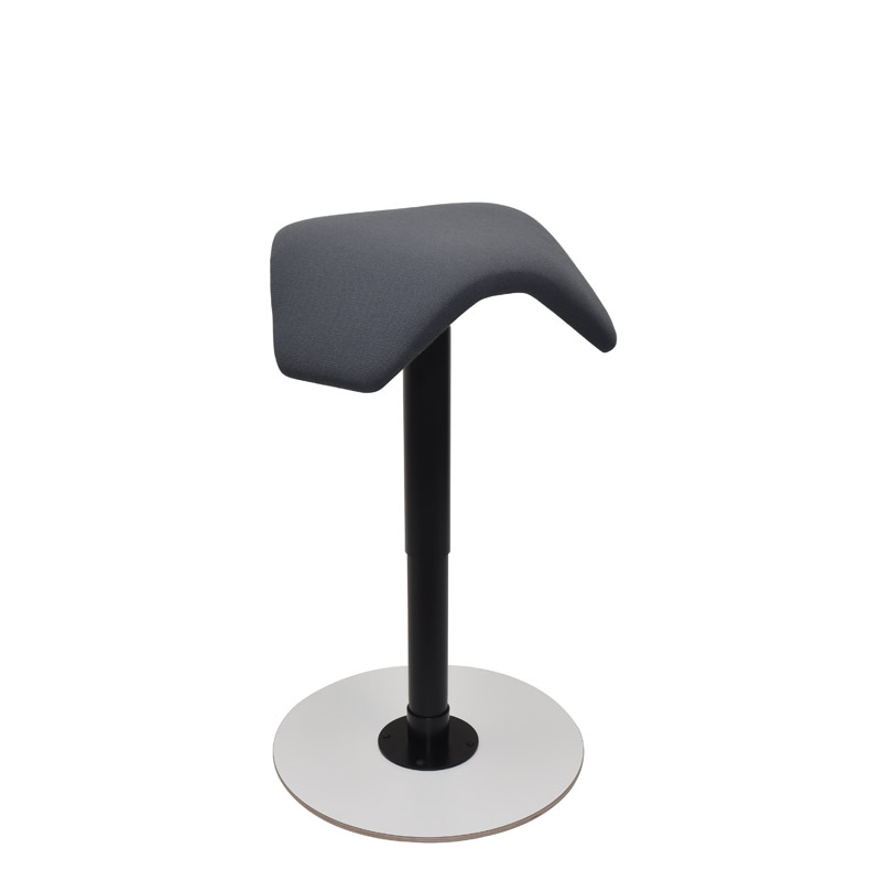 saddle, ergonomic, chair, stool, wood, design, finnish, furniture, school - myKolme liiku joy white fame grey