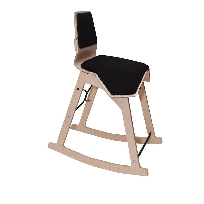 saddle, ergonomic, chair, stool, wood, design, finnish, furniture, school - myKolme Liiku swing black