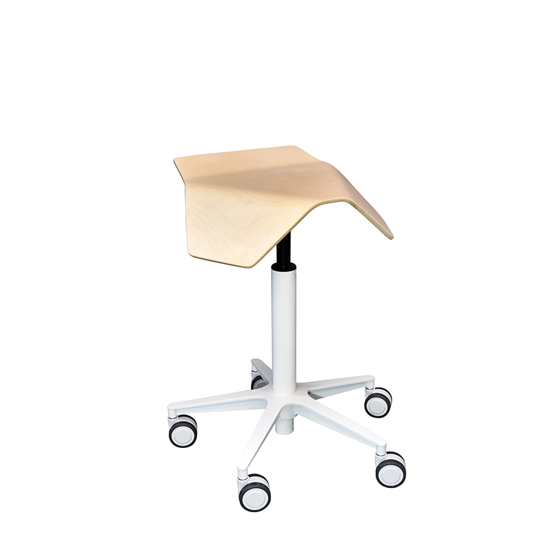 saddle, ergonomic, chair, stool, wood, design, finnish, furniture, school - myKolme Iloa birch snow