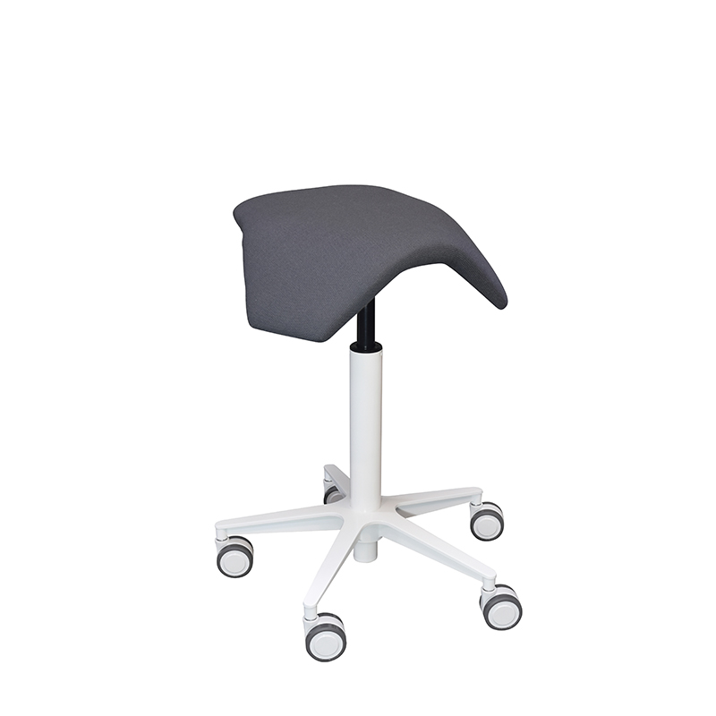saddle, ergonomic, chair, stool, wood, design, finnish, furniture, school - myKolme Iloa joy snow grey