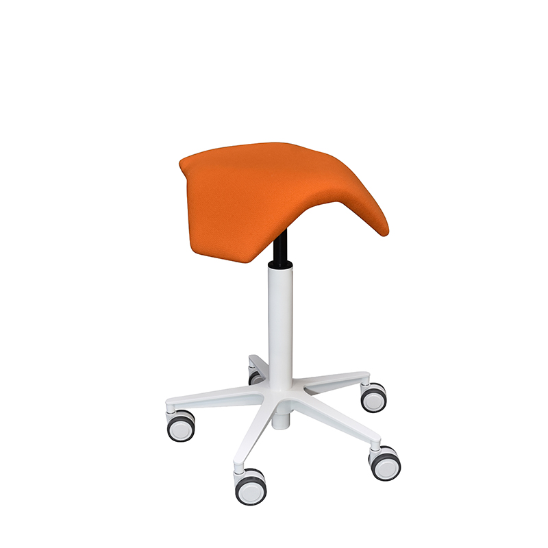saddle, ergonomic, chair, stool, wood, design, finnish, furniture, school - myKolme Iloa joy snow orange
