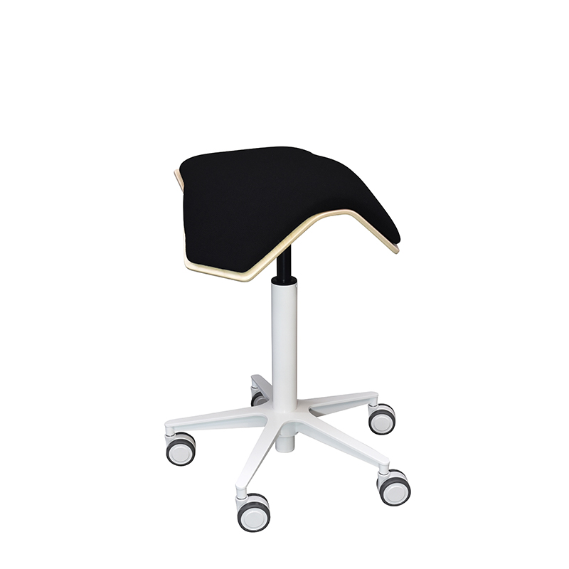 saddle, ergonomic, chair, stool, wood, design, finnish, furniture, school - myKolme Iloa one snow black