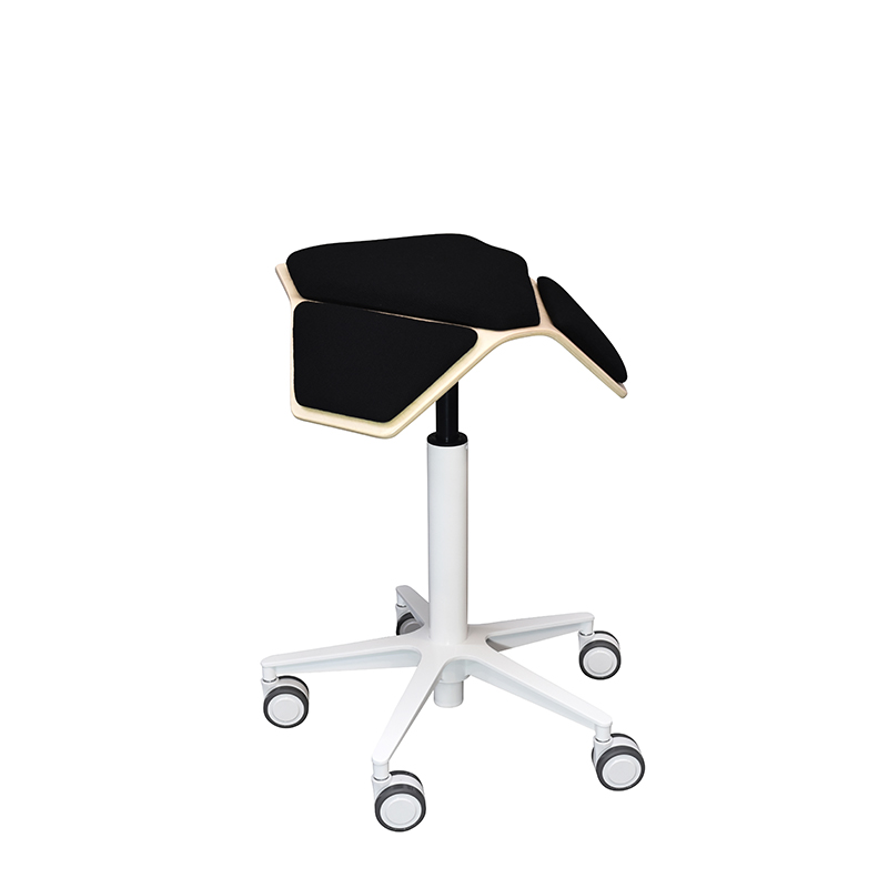 saddle, ergonomic, chair, stool, wood, design, finnish, furniture, school - myKolme Iloa plus snow black
