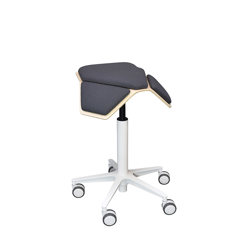 saddle, ergonomic, chair, stool, wood, design, finnish, furniture, school - myKolme Iloa plus snow grey